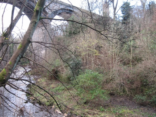 The Dean Bridge, seen from Belgrave Crescent Gardens
