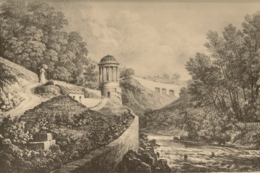 The elevations (in the distance) within the Moray Bank gardens before Randolph Crescent was built (1823)