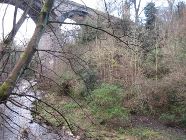 The view of the Dean Bridge is blocked even in winter time